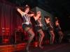 Cabaret dancers performing live